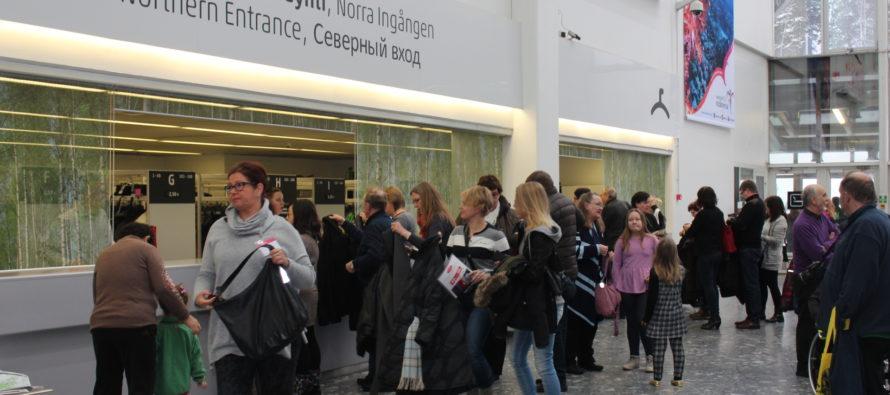 Finland är det andra och Estland det sjätte målet för ryska turister