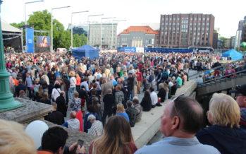 NordenBlandet och Estlands radio ERR var de största nyhetsförmedlarna och de som var mest aktiva i sociala medier under Finland 100 -konsert