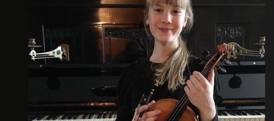 Helena-Reet: Idag ordnades en nationell violintävling i Estland – Min dotter, 11 år gammal Estella Elisheva är nu officiellt den tredje bästa violinisten i Estland!